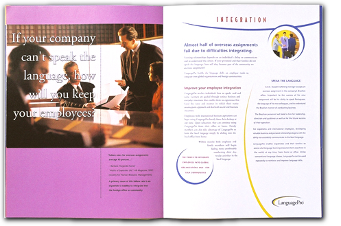LAnguagePro - product brochure design by Al Belote